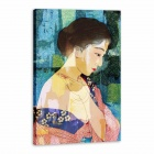 Iarts AHA072912 Canvas + Propylene Hand Painted Half Naked Chinese Woman Oil Painting - Multicolored