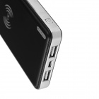 Big Man QI Standard Mobile Wireless Charger 10000mAh Power Bank + Receiving Module - Black