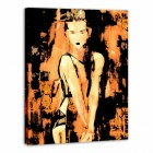 Iarts AHA072928 Canvas + Propylene Hand Painted Bar Girl Oil Painting - Multicolored