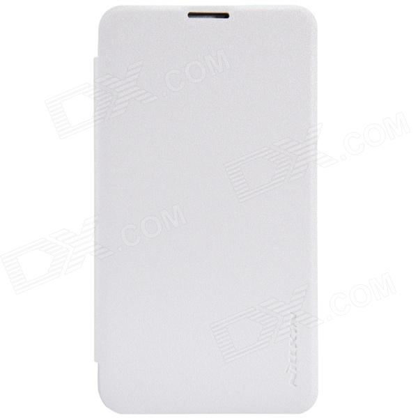 NILLKIN Protective PU Leather + PC Case Cover for Nokia Lumia 530  - White nillkin protective pu leather pc flip open case for nokia lumia 535 white