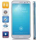 "G9000 MTK6592 Octa-Core Android 4.2.2 WCDMA Bar Phone w/ 5.3"" IPS, 8GB ROM, OTG, GPS - Blue + White"