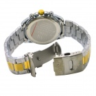 Business Casual style Steel Band analogique bracelet à quartz de MIKE hommes - Argent Or + (1 x 626)