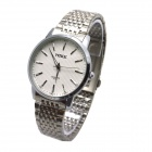 MIKE Men's Business Casual Style Steel Band Analog Quartz Watch - Silvery Grey + White (1 x 626)