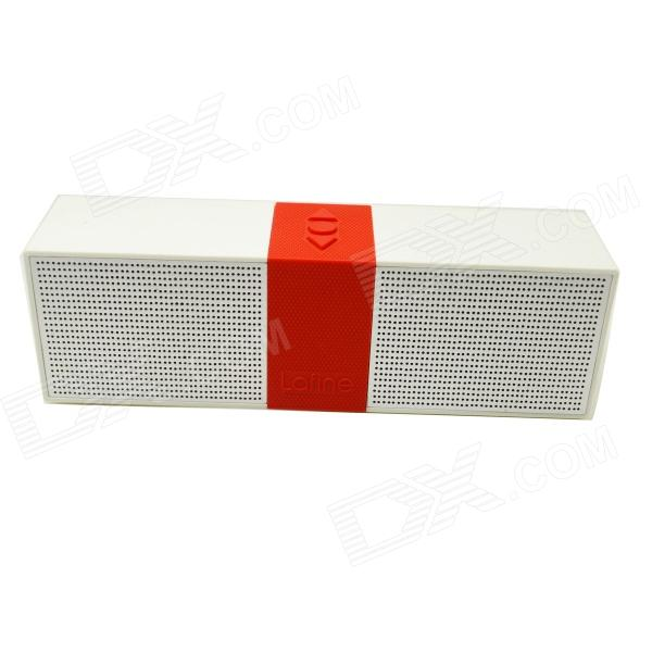 F1 Portable Wireless Bluetooth V4.0 Speaker w/ NFC - White + Red aj 81 wireless bluetooth v2 1 mp3 speaker w tf fm micro usb for iphone more black white