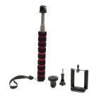 Retractable Aluminum Alloy Monopod w/ Mount for Cell Phone - Black