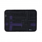 COCOON GRID-IT Creative Storage / Sorting Elastic Bands w/ Zipper Pouch Bag - Purple + Black (L)