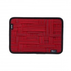 COCOON GRID-IT Creative Storage / Sorting Elastic Bands w/ Zipper Pouch Bag - Red + Black (L)