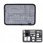 COCOON GRID-IT Creative Storage / Sorting Elastic Bands w/ Zipper Pouch Bag - Grey + Black (L)