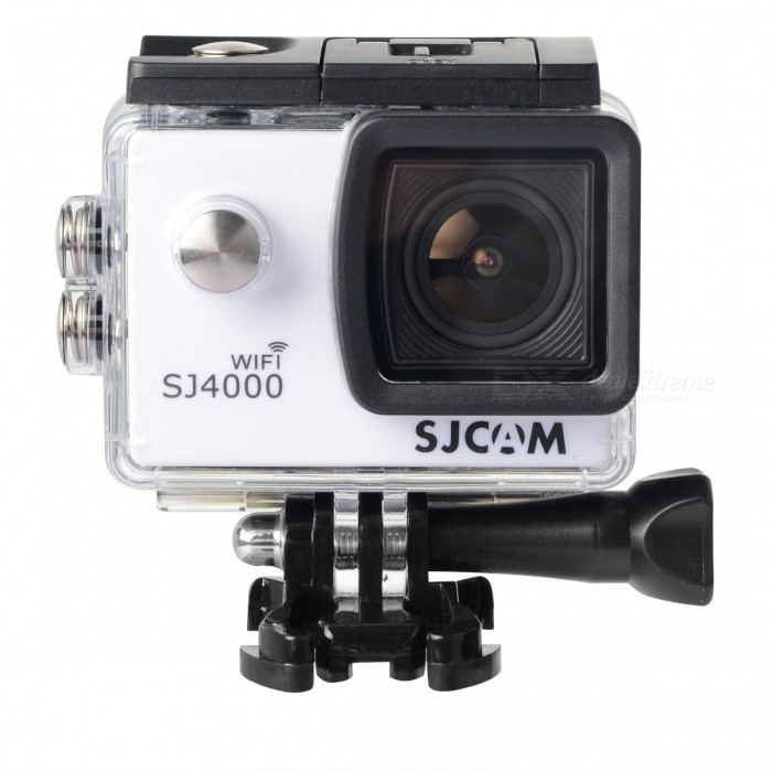 SJCAM SJ4000 Wi-Fi 2.0 12MP CMOS 1080P Sport Video Camera - WhiteSport Cameras<br>Form  ColorWhite + Black + Multi-ColoredBrandSJCAMModelSJ4000 Wi-FiShade Of ColorWhiteMaterialABS plasticsQuantity1 pieceImage SensorCMOSImage Sensor Size2/3 inchesAnti-ShakeYesFocal DistanceNo cmFocusing RangeNoOptical ZoomNoDigital Zoom4XBuilt-in SpeedliteNoSpeedlite RangeNoApertureNoAperture RangeNoWide Angle170-degree A + high-definition wide-angle lensEffective Pixels12.0 MPMax. Pixels60 pixelsImagesJPEGStill Image Resolution4032 x 3024 (12M) / 3648 x 2736 (10M) / 3264 x 2448 (8M) / 1296 x 960 (1.3M)VideoMOVVideo Resolution1080P  (1920 x 1080 )  30FPS <br>720P   (1280 x 720)   60FPS<br>VGA   ( 848 x 480)   60FPS<br>QVGA  (640 x 480)   60FPSVideo Frame Rate30,60Audio SystemStereoCycle RecordYesISOOthers,100 / 200 / 400 / AutoExposure Compensation-2;-1.7;-1.3;-1;-0.7;-0.3;0;+0.3;+0.7;+1;+1.3;+1.7;+2.0Scene ModeAutoWhite Balance ModeAutoSupports Card TypeTFSupports Max. Capacity32 GBBuilt-in Memory / RAMNoInput InterfaceOthers,Mini USBOutput InterfaceMini USB,Mini HDMILCD ScreenYesScreen TypeTFTScreen Size2.0 inchScreen Resolution800 x 600Battery Measured Capacity 900 mAhNominal Capacity950 mAhBattery TypeLi-ion batteryBattery included or notYesBattery Quantity1 pieceVoltage3.7 VBattery Charging Time3~4 hoursLow Battery AlertsYesWater ResistantOthers,30M water resistantSupported LanguagesEnglish,Simplified Chinese,Traditional Chinese,Russian,Spanish,Italian,Korean,GermanOther FeaturesWi-Fi frequency range: 2.4GPacking List1 x Camera1 x Waterproof protection case2 x Connecting supports2 x Helmet buckles 1 x Camera support1 x Adapter support1 x Bicycle frame1 x USB data cable (80cm)4 x Bicycle frame tag1 x Wiping cloth1 x Chinese and English user manual<br>