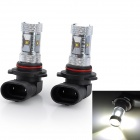 Marsing F3 9006 30W 2600lm 6500K 6-Cree LED Cool White Light Car Fog / Head Lamps (12~24V / 2 PCS)