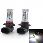 Marsing F2 9005 30W 2600lm 6500K 6-Cree LED Cool White Light Car Fog / Head Lamps (12~24V / 2 PCS)