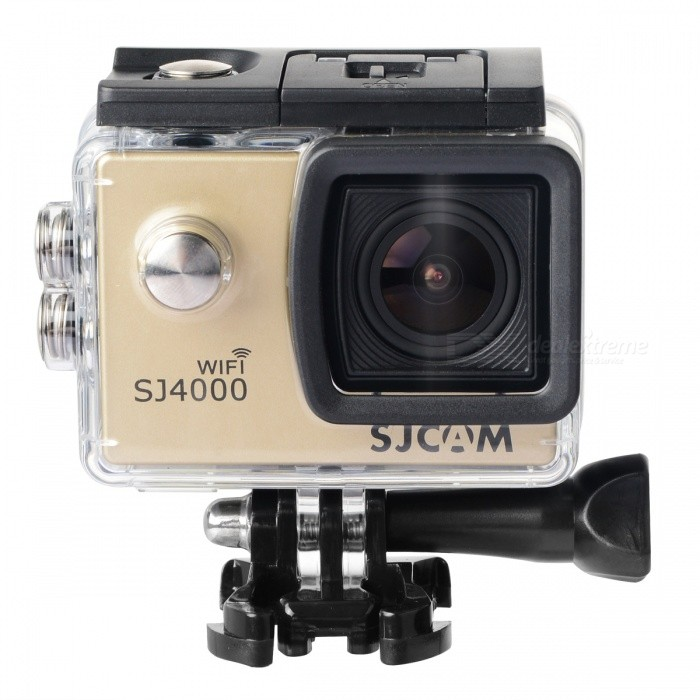 SJCAM SJ4000 Wi-Fi 12.0 MP 2/3 CMOS Outdoor Sport Digital Video CameraSport Cameras<br>Form  ColorGolden Yellow + BlackBrandSJCAMModelSJ4000 WifiShade Of ColorSilverMaterialABS plasticsQuantity1 pieceImage SensorCMOSImage Sensor Size2/3 inchesAnti-ShakeYesFocal DistanceNo cmFocusing RangeNoOptical ZoomNoDigital Zoom4XBuilt-in SpeedliteNoSpeedlite RangeNoApertureNoAperture RangeNoWide Angle170-degree A + high-definition wide-angle lensEffective Pixels12.0 MPMax. Pixels60 pixelsImagesJPEGStill Image Resolution4032 x 3024 (12M) / 3648 x 2736 (10M) / 3264 x 2448 (8M) / 1296 x 960 (1.3M)VideoMOVVideo Resolution1080P  (1920 x 1080 )  30FPS <br>720P   (1280 x 720)   60FPS<br>VGA   ( 848 x 480)   60FPS<br>QVGA  (640 x 480)   60FPSVideo Frame Rate30,60Audio SystemStereoCycle RecordYesISOOthers,100 / 200 / 400 / AutoExposure Compensation-2;-1.7;-1.3;-1;-0.7;-0.3;0;+0.3;+0.7;+1;+1.3;+1.7;+2.0Scene ModeAutoWhite Balance ModeAutoSupports Card TypeTFSupports Max. Capacity32 GBBuilt-in Memory / RAMNoInput InterfaceOthers,Mini USBOutput InterfaceMini USB,Mini HDMILCD ScreenYesScreen TypeTFTScreen Size2.0 inchScreen Resolution800 x 600Battery Measured Capacity 900 mAhNominal Capacity950 mAhBattery TypeLi-ion batteryBattery included or notYesBattery Quantity1 pieceVoltage3.7 VBattery Charging Time3~4 hoursLow Battery AlertsYesWater ResistantOthers,30M water resistantSupported LanguagesEnglish,Simplified Chinese,Traditional Chinese,Russian,Spanish,Italian,Korean,GermanPacking List1 x Camera1 x Waterproof protection case2 x Connecting support2 x Helmet buckle1 x Camera support1 x Adapter support1 x Bicycle frame1 x USB data cable (80cm)4 x Bicycle frame tags4 x Plastic bands 1 x Wiping cloth1 x Chinese and English user manual<br>