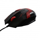 MaShang X5 USB 2.0 LED Optical Wired Gaming Mouse - Black + Red (150cm)