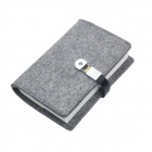 S02-CJ3214 Wool Felt 32K Notebook w/ 8GB USB 2.0 Flash Disk - Light Grey