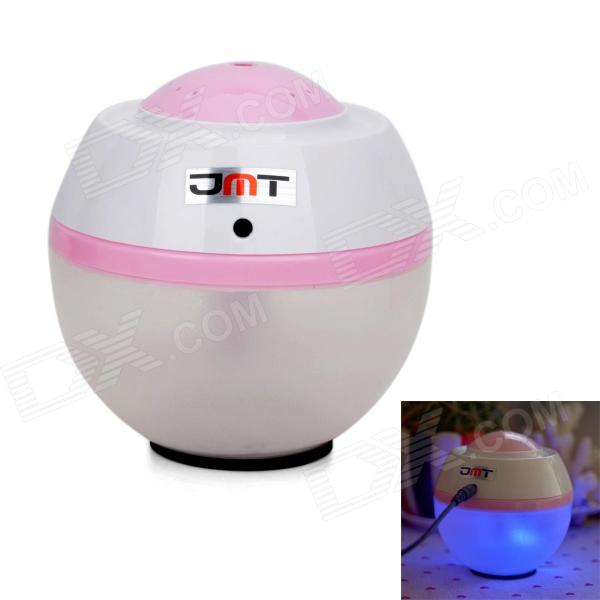 JMT Mini Ultrasonic 2W USB Powered Air Humidifier - White + Pink (400ML)
