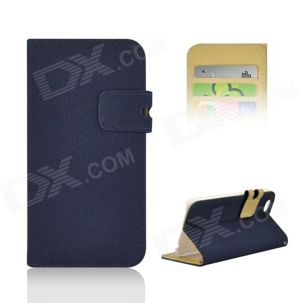 "Angibabe Dull polsk Leather Case w / kortspor for iPhone 6 4.7 "" - Sapphire"