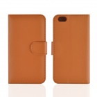 "Angibabe Flat Pattern PU Leather Case w/ Card Slot + Stand for IPHONE 6 4.7"" - Brown"