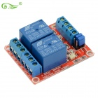 24V Zwei-Wege High And Low Relaismodul w / Optokoppler Red Circuit Board