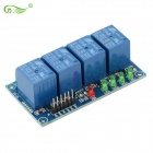 4-Channel 12V High Relay Module - Deep Blue