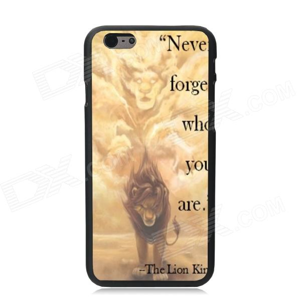 Elonbo Lion King Plastic Hard Back Cover Case for IPHONE 6 4.7 - Yellow + Brown elonbo beautiful stripe plastic hard back cover for iphone 6 4 7 inch