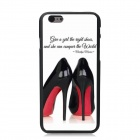 "Elonbo Black High Heels Pattern Plastic Hard Back Cover Case for IPHONE 6 4.7"" - White + Black"