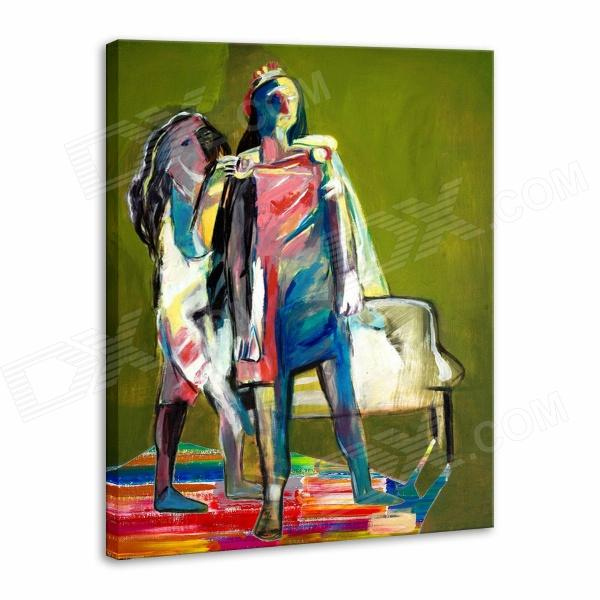 Iarts Hand-painted Abstract People Oil Painting (60 x 40cm) iarts hand painted blue vase oil painting 60 x 40cm