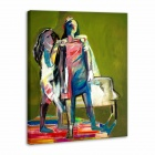 "Iarts Hand-painted ""Abstract People"" Oil Painting (60 x 40cm)"