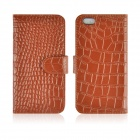 "Angibabe Crocodile Genuine Split Leather Case w/ Card Slot + Holder for IPHONE 6 4.7"" - Brown"