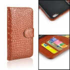 "Crocodile Genuine Leather Case for IPHONE 6 / 6S 4.7"" - Brown"