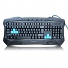 Sunsonny SK-V95 Platinum Edition Blue LED Backlit USB Wired Waterproof Keyboard - Black