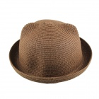 Casual Style Straw Hat - Khaki (Brown)