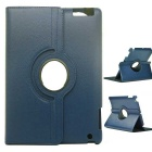 360' Rotary Protective Case w/ Stand + Stylus + Screen Guard Film Set for IPAD 2 / 3 / 4 - Blue