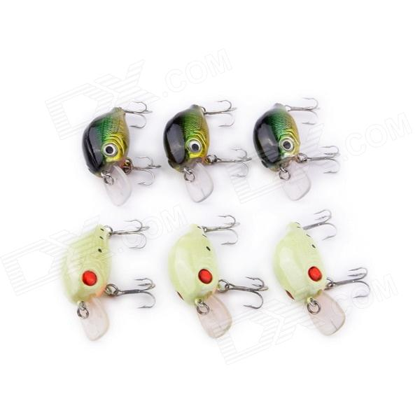 Weever Fat Fish Style Artificial Hard Fish Bait (6 PCS) lifelike earthworm style fishing baits 5 pcs