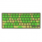 TPU Transparent Old Edition Bubble Pattern Keyboard Cover for MACBOOK AIR / PRO / RETINA - Green