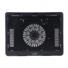 K31 Ultra-thin USB Powered 1-Fan Cooling Pad for 14 inch Laptops - Black