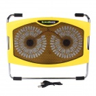 K36 Ultra-quiet USB Powered 2-Fan Cooling Pad for 15.4 inch Laptops - Yellow