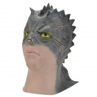 SYVIO Men's Lizardman Style Mask - Black + Flesh Color