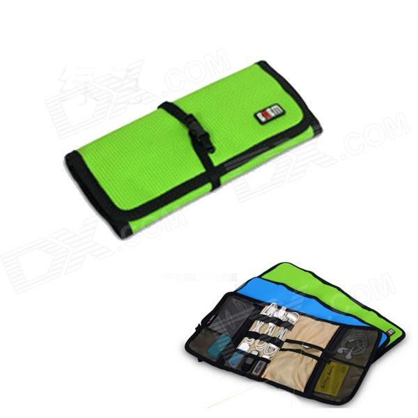 BUBM BJ7 Reel-type Large-Capacity Multi-Purpose Digital Storage Bag - Grass Green bubm bj7 reel type large capacity multi purpose digital pouch storage bag coffee