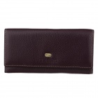 C.S.C QU702C2 Stylish Long Style Cover Opening Leather Purse - Purple