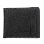 C.S.C MA273AI Men's Fashion Folding Style Cover Opening Leather Wallet - Black
