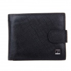 Beidi Erke B065-206 High-Grade Leather Cover Opening Style Wallet for Men - Black