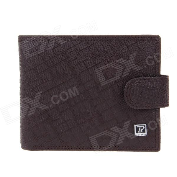 Beidi Erke B065-206 High-Grade Leather Cover Opening Style Wallet for Men - Brown