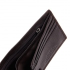 Beidi Erke B065-918 Fashion High-Grade Leather Cover Opening Style Wallet for Men - Brown