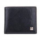 Beidi Erke B040-204 High-Grade Leather Folding Style Wallet for Men - Black