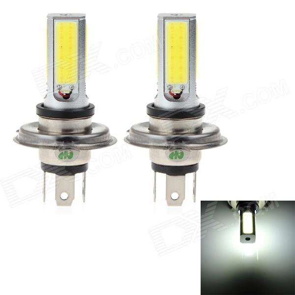 HJ H4 24W 2200lm 6000K 4-COB LED White Light Car Foglights (2 PCS / 10~30V)