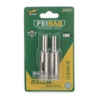 FEI BAO 12mm Glass Drill Bits - Silver (Pair)