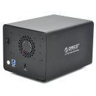 ORICO 9528U3 Tool Free 2-Bay 3.5'' HDD Enclosure USB 3.0 HDD External Enclosure - Black