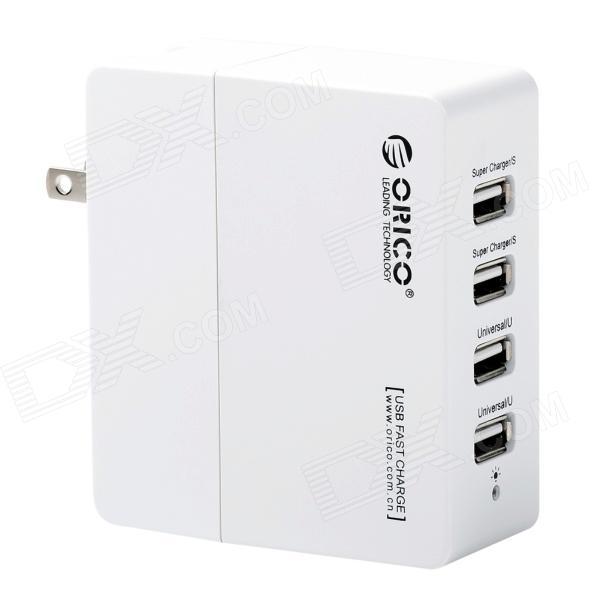 ORICO DCX-4U 4-Port USB 2.0 Wall Charger Power Adapter for Smart Phones - White (US Plug) the giver