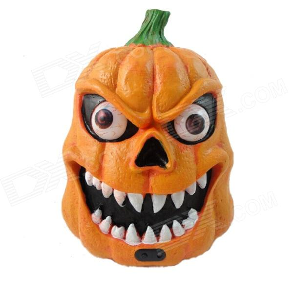 Halloween Costumes Lighting + Acoustic Induction Terrorist Pumpkin Ghost Head - Orange + Black