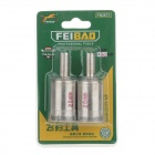 FEI BAO 20mm Glass Drill Bits - Silver (Pair)